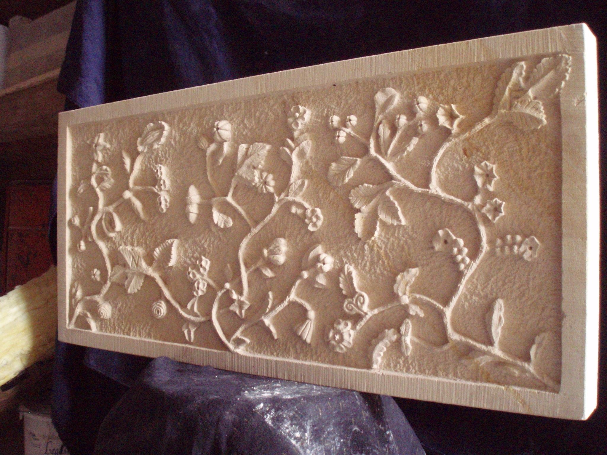 Panneau sculpté pierre de Richemont-Samson_laurent_tailleur de pierre_Bourges