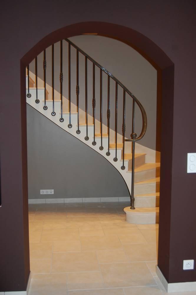escalier voute sarrasinne pierre combebrune .tailleur-de-pierre-laurent-samson